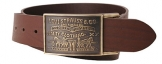 Levis Large Buckle leather belt - Brown