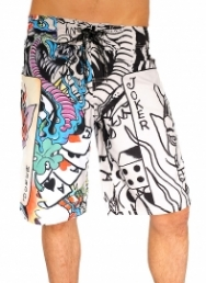 Live Once Joker Board Shorts
