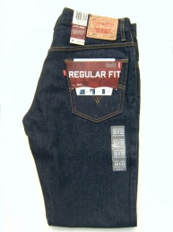 Levis 505 Regular Fit. Dark denim.