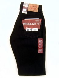 Levis 505 Regular Fit. Black.