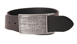 Levis Large Buckle leather belt - Black